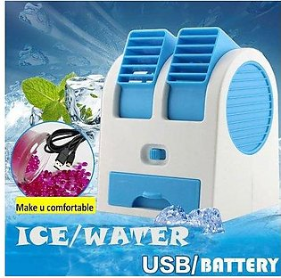 Pack of 2 Desk Table USB Fan,Portable Air Conditioning Mini Fan Air Cooler Ho...
