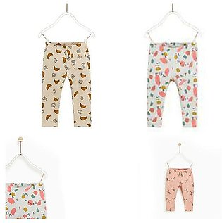 Pack Of 3, 3 Month to 3 Years, Comfortable Stylish Printed Trouser For Baby & B…
