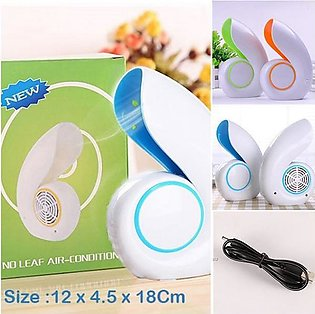 Pack of 2 USB Portable Air Conditioner No Leaf Bladeless Cooling (0060)