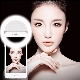 Pack of 2 Portable Selfie Ring Light Flash Led Camera Enhancing Photography F...
