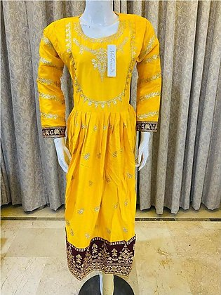 Maria b long frock Yellow