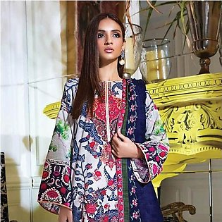 Sana Safinaz Mahay Winter Unstitched Collection 2pc Suit 3A Blue
