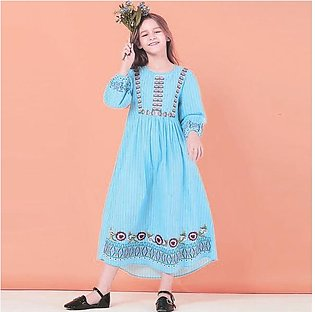 Multicolor Baby Girl Embroidered Kurti