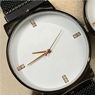Ck Magnetic Pair Watch Dummy Down Second Black & White For Mens & Womens Best...