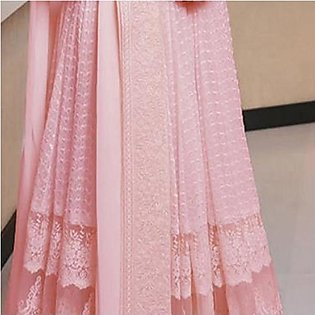 New Simple Design Chiffon Frock Pink For Women's 45113