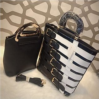 Luxurious Women Hand Bag In Black (Imported)