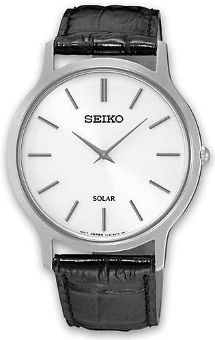 Seiko gent's solar men's wrist watch in leather strap
