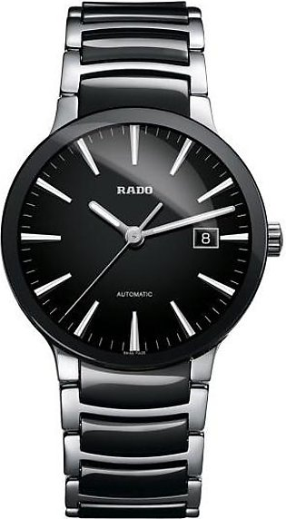 Rado Centrix automatic mens wrist watch in black dial with date