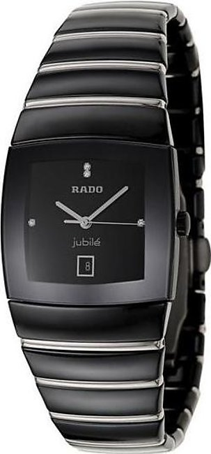 Rado Sintra jubile mens wrist watch in all black ceramics