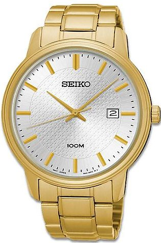Seiko quartz gent's wrist watch in golden color
