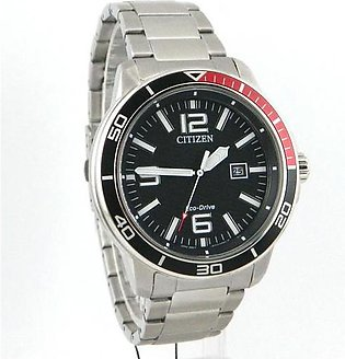 Citizenwrist watch for men in black textured dial with date
