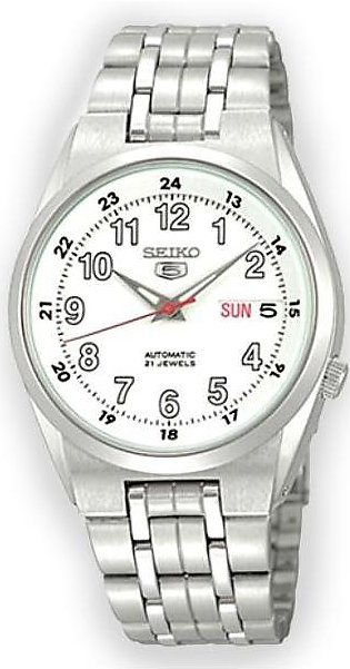 Seiko 5 automatic gent's wrist watch in white dial