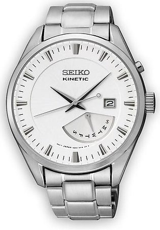 Seiko Kinetic Wrist Watch In Solid Steel Case & Band