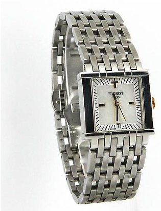 Used Tissot wrist watch for men mother of pearl dial with date