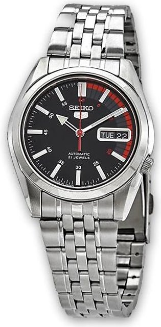 Seiko 5 speed racer men's automatic black dial