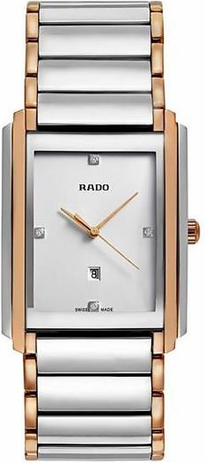 Rado Integral jubile mens wrist watch in silver dial with date