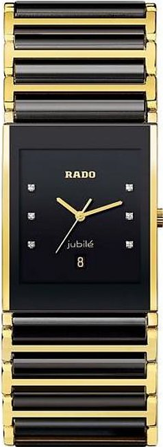 Rado Integral jubile mens wrist watch in black dial with date