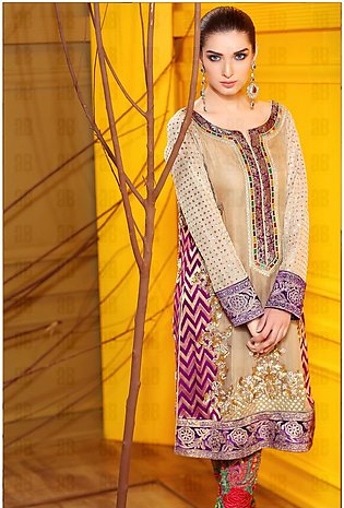 Golden Hand Made Kameez Shalwar Luxury Pret