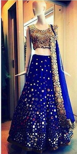 Blue Lehanga Choli Dress for this Eid and Wedding