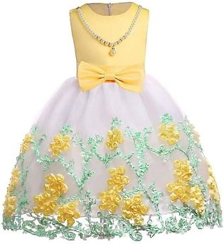 Yellow/white baby frock