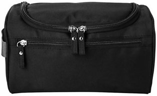 Unisex Zipped Travel Cosmetic Toiletry Makeup Bag