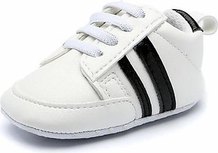 Comfortable white black Baby boy Sneakers Shoes for Newborn to Toddlers