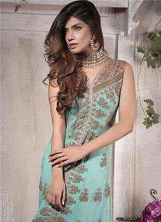 OLIGOCLASE Collection 2017 by Ahsan Hussain Sea Green