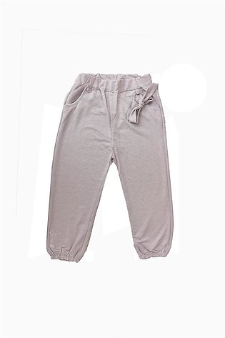 Imported Girls Trousers in Ash Gray