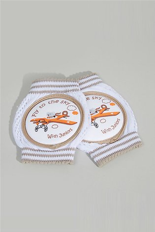 Baby's Applique Detail Knee Pad - Set of 2