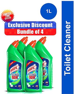 Pack of 4 Harpic Toilet Cleaner 1L Lime