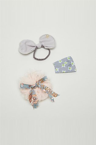 Girl's 3-Piece Embellished Hair Accessory Set