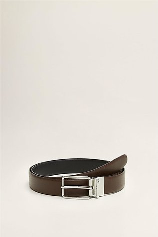 Reversible Recycled Leather Belt