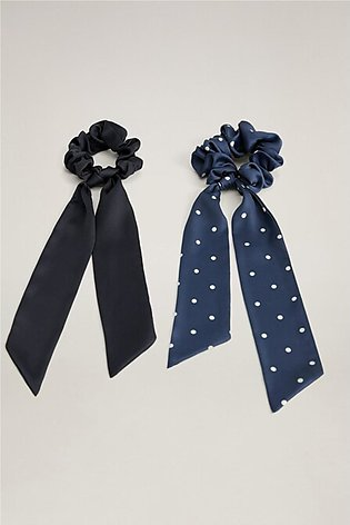2 Bow Hair Tie Pack