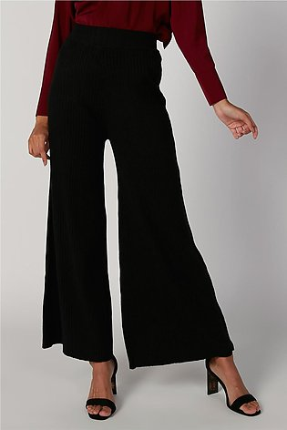 Plain Flexi Waist Palazzo Pants with Elasticised Waistband