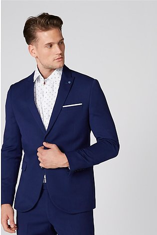 Notched Lapel Formal Coat with Long Sleeves and Button Closure