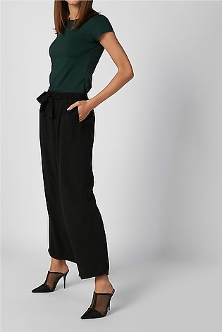 Sustainable Plain Palazzo Pants with Pocket Detail