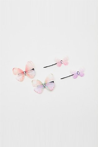 Girl's 4-Piece Embellished Hair Accessory Set