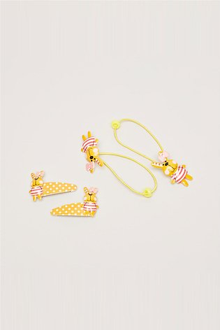 Girl's 4-Piece Printed Hair Accessories Set