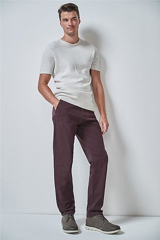 Stretch Chinos- Straight Fit