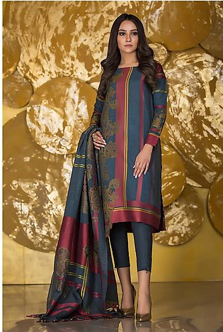 3 Piece Dyed Jacquard Suit with Jacquard Dupatta