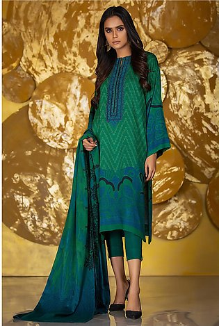 3 Piece Embroidered Twill Viscose Suit with Twill Viscose Dupatta