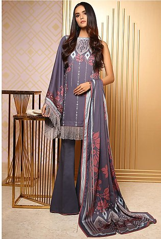 3 Piece Printed Cotail Viscose Suit with Cotail Viscose Dupatta
