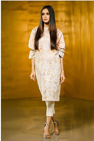 2 Piece Embroidered Khaddar Suit with Khaddar Trouser