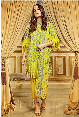 3 Piece Printed Khaddar Suit with Khaddar Dupatta