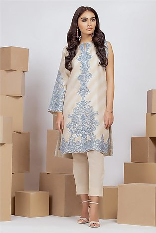 2 Piece Printed Suit with Cambric Trouser