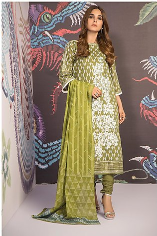3 Piece Embroidered Suit with Lawn Dupatta