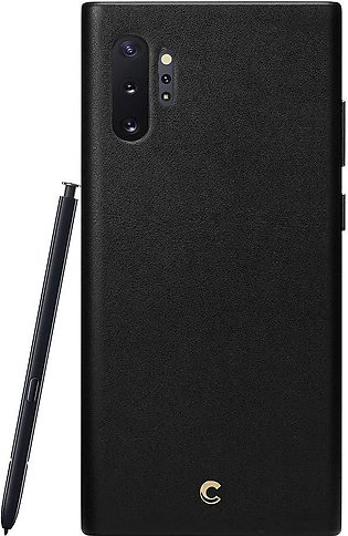 Galaxy Note 10 Plus Leather Case Black – Basic Leather Collection by CYRILL – 6…