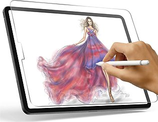 iPad Pro 12.9 2020 Paper Feel Clear Matte Film with Support for Apple Pencil, W…