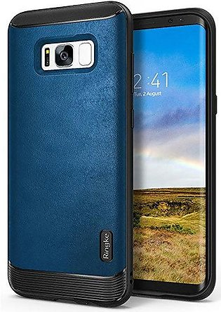 Galaxy S8 Ringke Flex S Leather Infused Case - Deep Blue