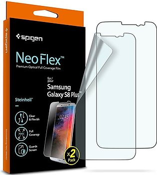 Galaxy S8 Plus Spigen Neo Flex Case Friendly Screen Protector – 2 PACK